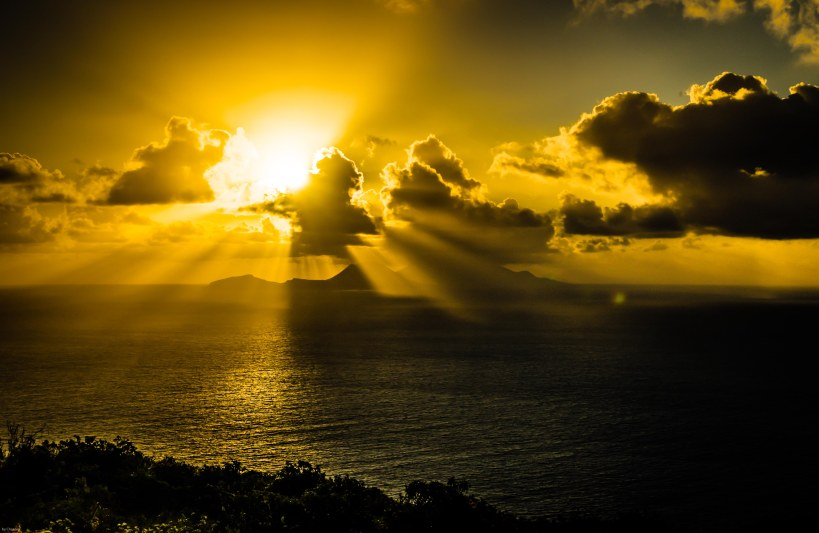 Golden Light on Christmas Morning in Saba, 2012