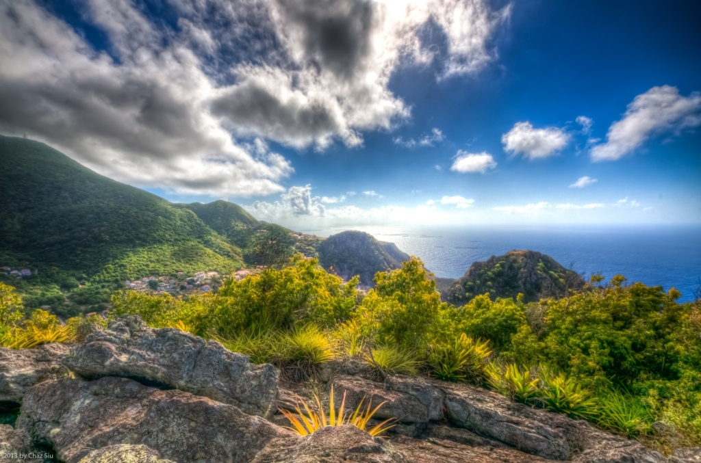 South Coast From Paris Hill, Saba, Dutch Caribbean