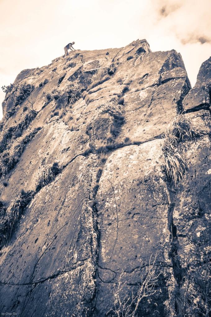 Michael Chammaa Summits The Whale Tail, Saba, Dutch Caribbean