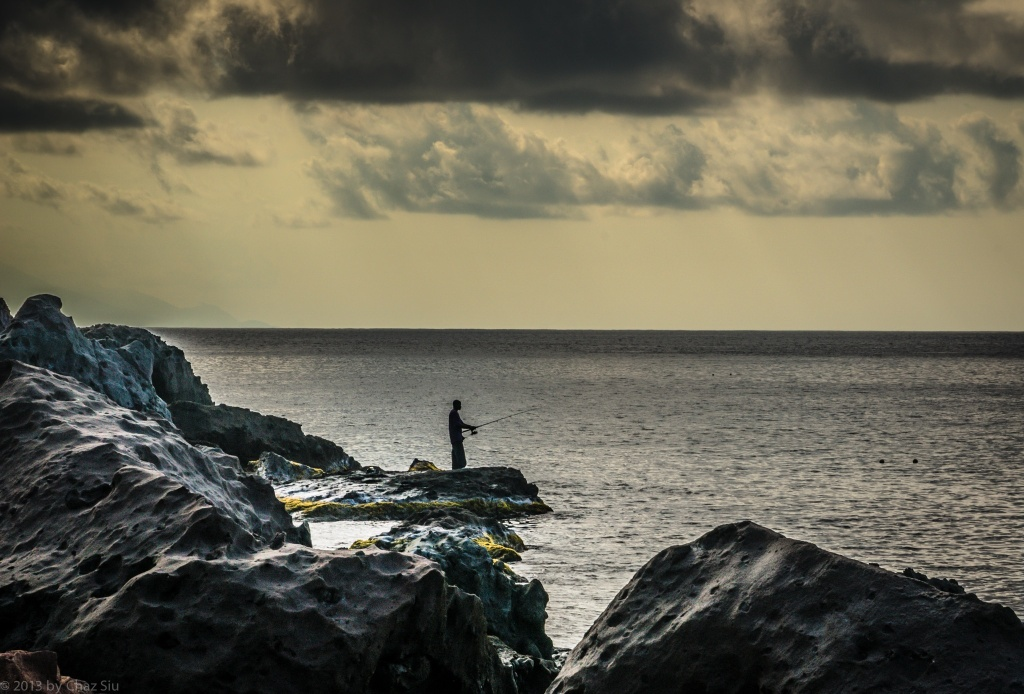 Local Fisherman Off Giles Quarter, Saba, Dutch Caribbean