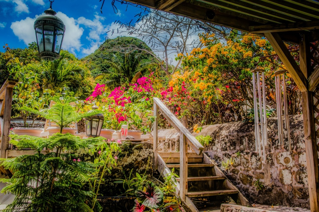 Garden And Maskehorne Hill, Saba, Dutch Caribbean