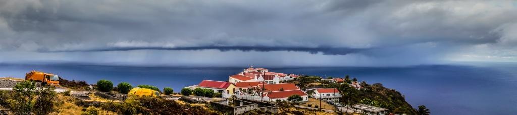 Offshore Rainstorm, Saba, Dutch Caribbean