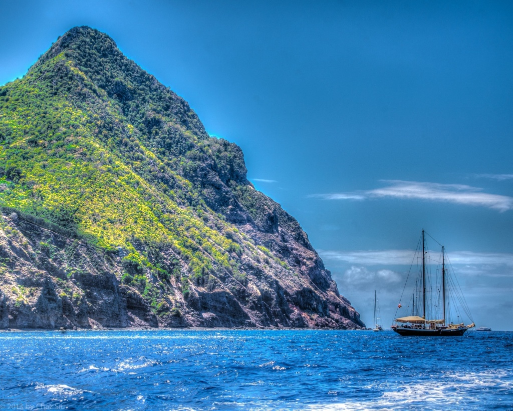 Sailboat, Ladder Bay, Saba, Dutch Caribbean