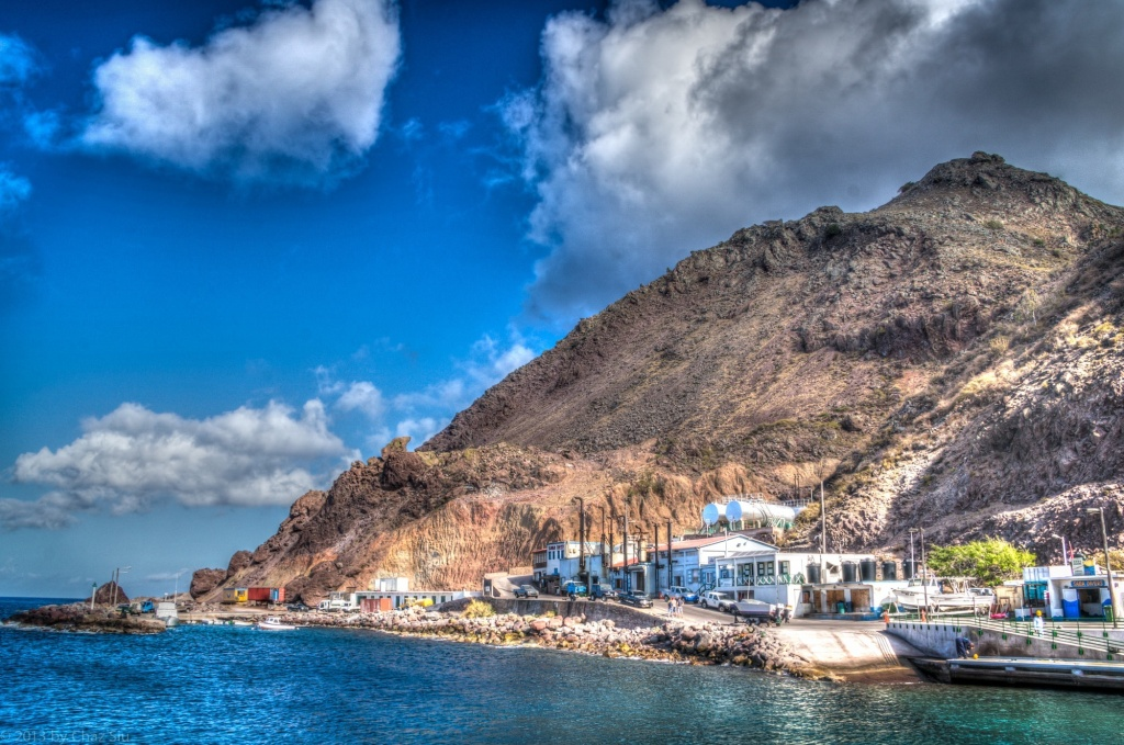 Fort Bay Harbor, Saba, Dutch Caribbean