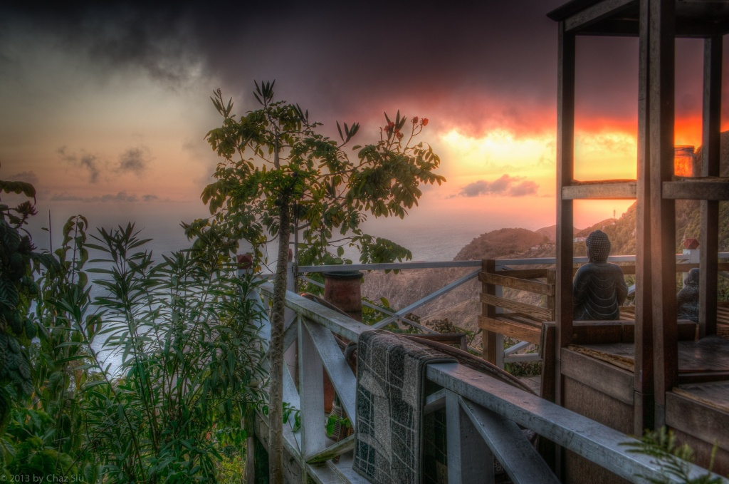 Sunset From The El Momo Cottages, Saba, Dutch Caribbean