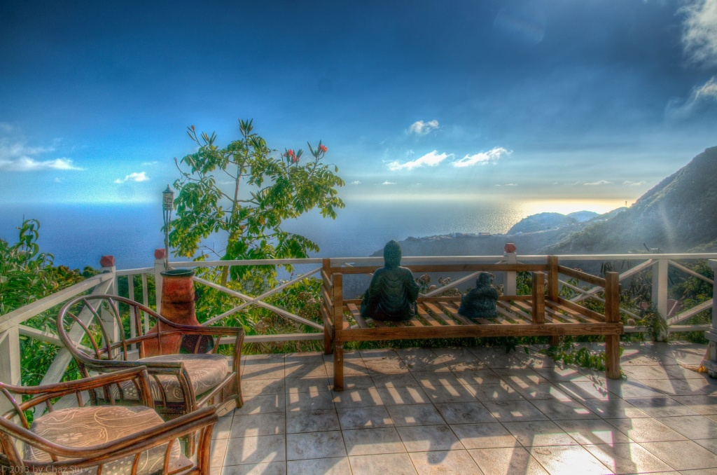 Daytime View From El Momo Cottages, Saba, Dutch Caribbean