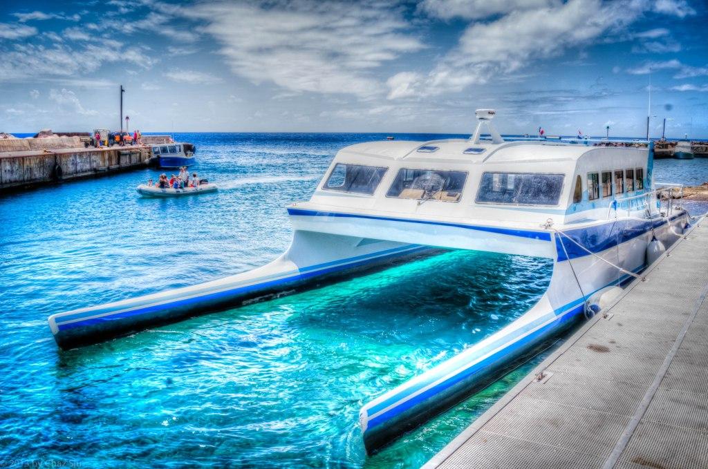 The Edge Docked At Fort Bay Harbor, Saba, Dutch Caribbean