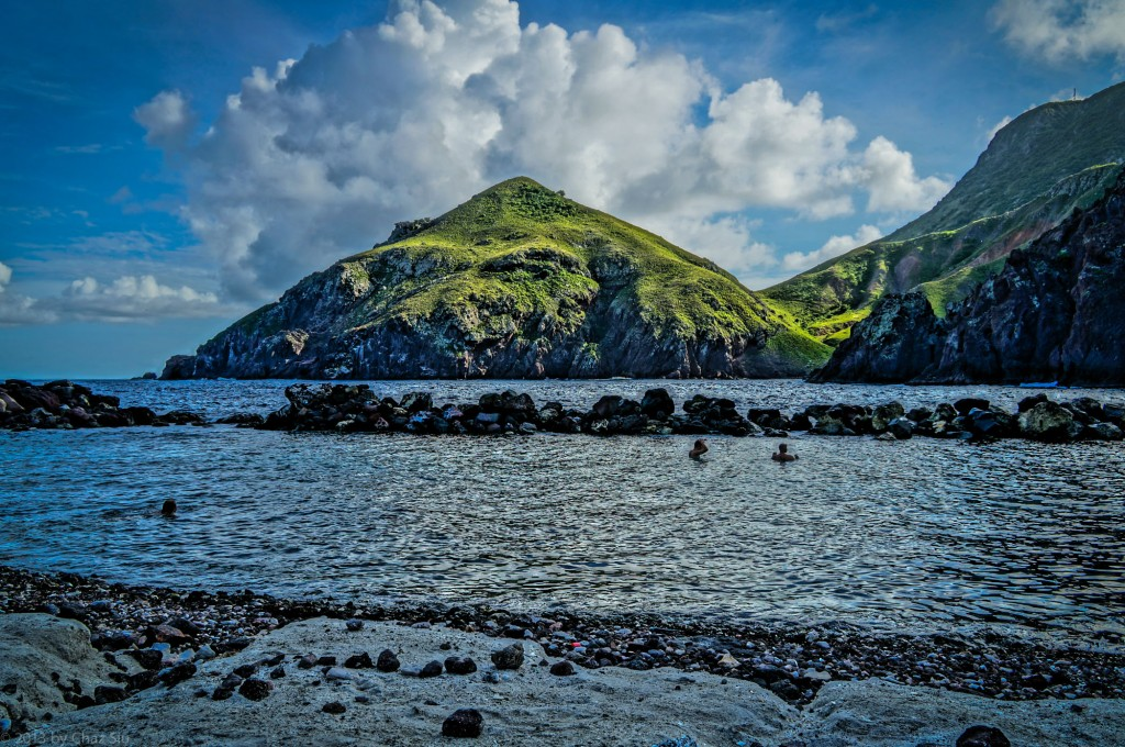 Cove Bay and Old Booby Hill, Saba, Dutch Caribbean