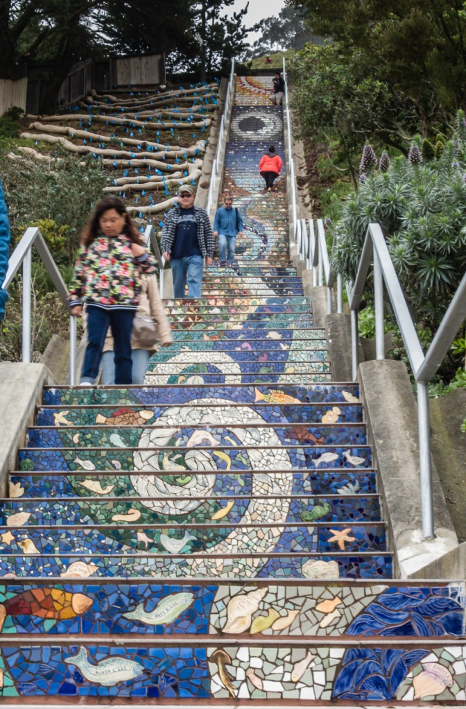16th Ave Mosaic Staircase