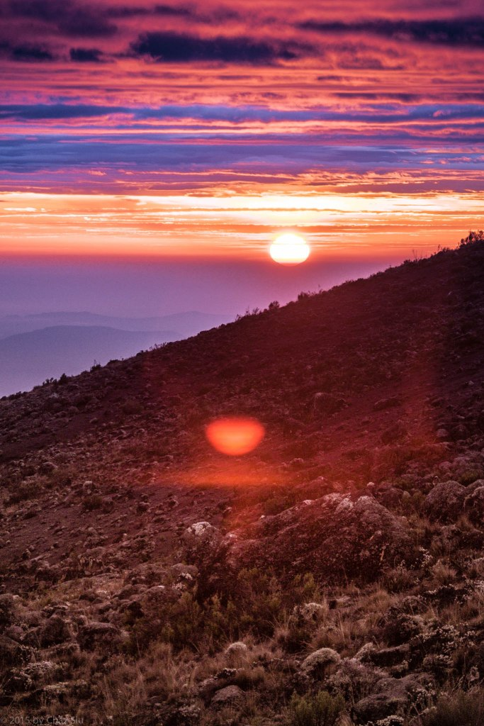 African Sunrise On Mt Kilimanjaro