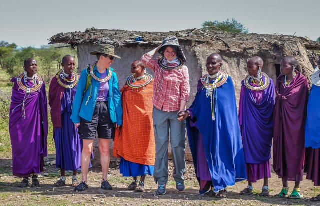 Caryl, Irina, and the Maasai Women