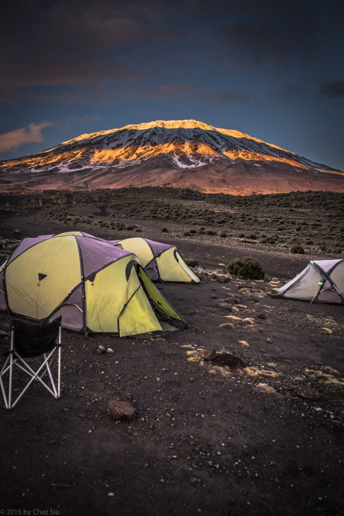 Sunrise Bands On Kilimanjaro Above Our Sleeping Tents