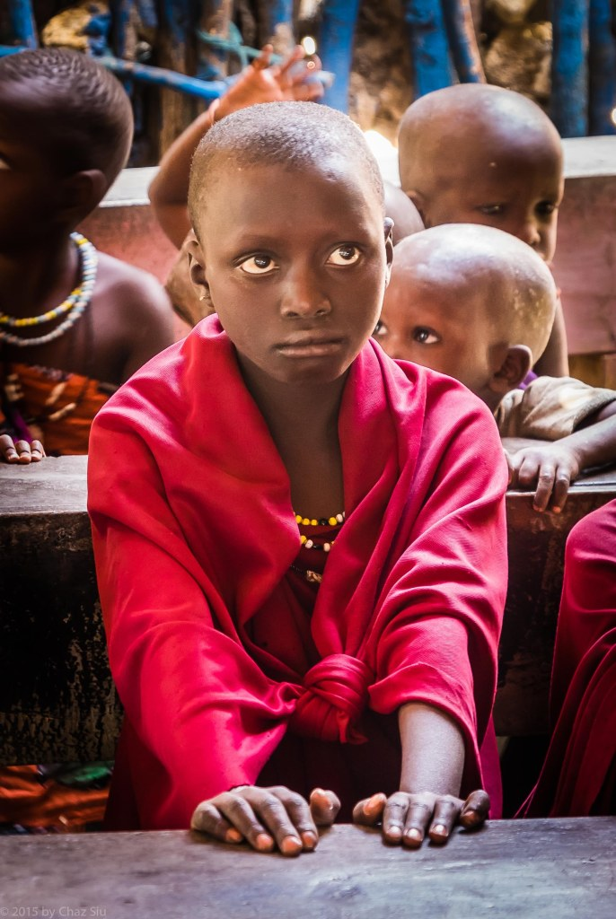 Schoolgirl - Only 5-10% of Maasai Children Are Allowed To Go To School.