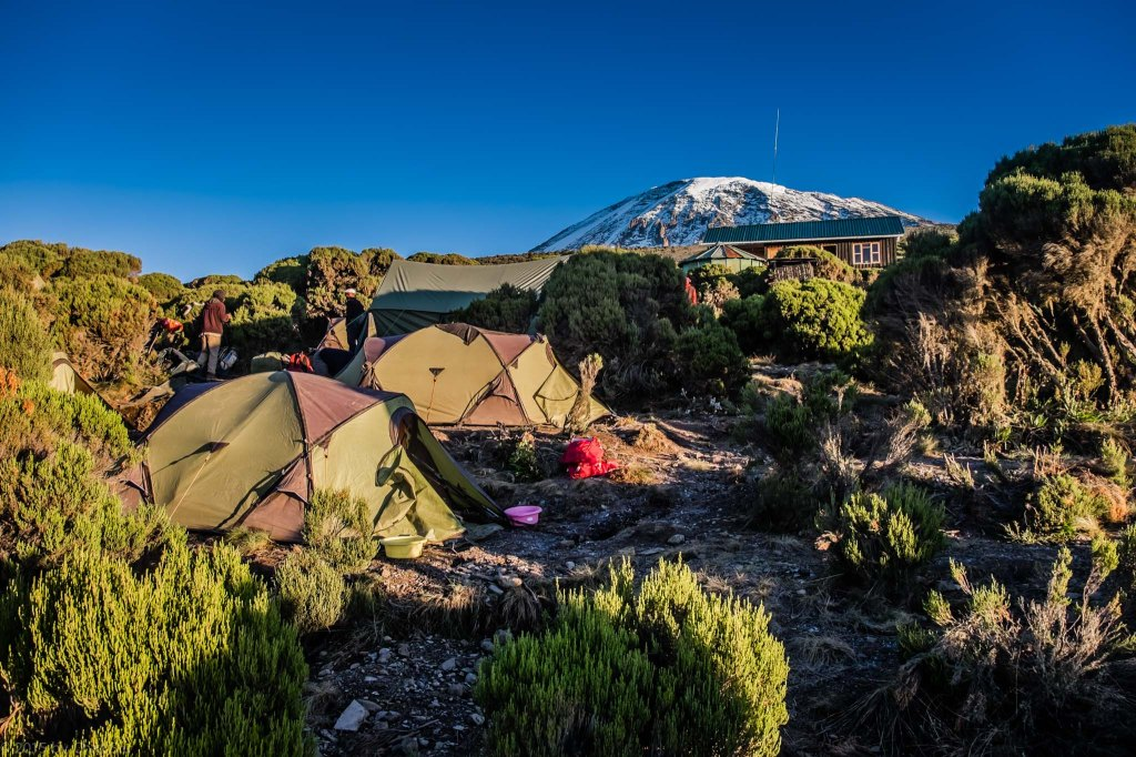 Millenium Camp Nestled Below Kili - Elevation 12,590 ft
