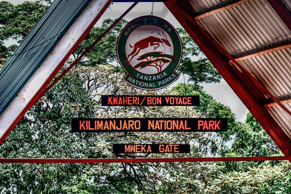 Mweka Gate Finish - ByeBye Kili