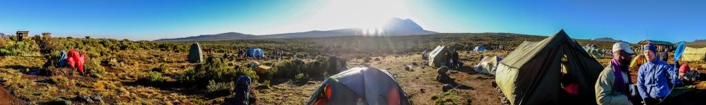 Sunrise At Shira One Camp With Kili Framed
