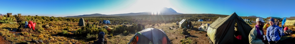 Sunrise At Shira One Camp With Kili Framed